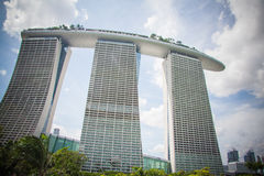 Marina Bay, Famous Hotel in Singapore Stock Photography