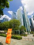 Marina Bay Financial Centre em Singapura Imagem de Stock