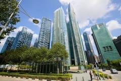 Marina Bay Financial Centre em Singapura Fotografia de Stock
