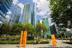Marina Bay Financial Centre em Singapura Fotos de Stock Royalty Free