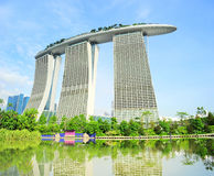 Marina Bay Hotel Royalty Free Stock Image
