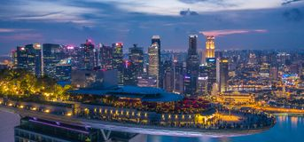 Marina Bay Hotel Skypark Skygarden Skybar på Singapore - rymdskepp arkivbild