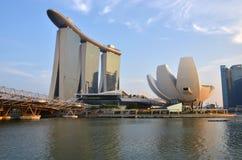Marina Bay Hotel und das ArtScience-Museum, Singapur lizenzfreie stockfotografie