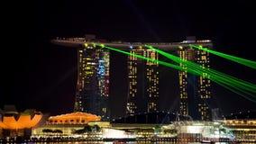 Marina bay light show, Singapore stock video footage