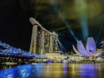 Marina Bay Lights photographie stock libre de droits