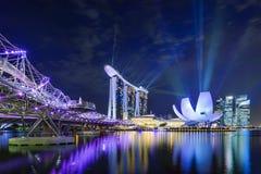 Marina Bay Lights Stock Photo