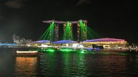 Marina Bay lista para la demostración del laser Imágenes de archivo libres de regalías