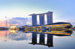Marina Bay, Morning Landscape Stock Images