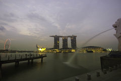 Marina bay in the morning Royalty Free Stock Image