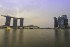 Marina bay in the morning Stock Photos