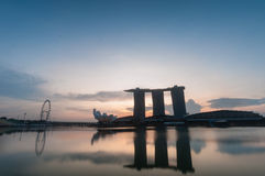 Marina bay in morning Royalty Free Stock Images
