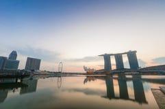 Marina bay in morning Stock Photos