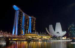 Marina Bay Night Scenes Royalty Free Stock Image