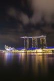 Marina bay at night, urban landscape of Singapore Stock Photos