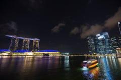 Marina bay at night, urban landscape of Singapore Stock Photography