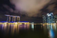 Marina bay at night, urban landscape of Singapore Stock Photo