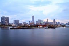 Marina bay at night in Yokohama City Stock Image