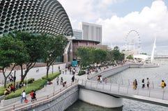 Marina Bay område Singapore Arkivbild