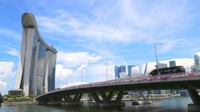 Marina Bay område, Singapore Royaltyfri Fotografi