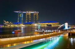 Marina bay overlooking. Singapore stock photography
