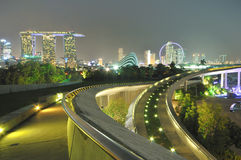 Marina Bay Panorama Stock Images