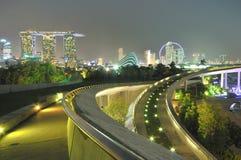 Marina Bay Panorama Stock Images