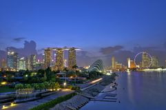 Marina Bay Panorama Stock Image
