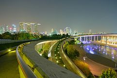 Marina Bay Panorama Royalty Free Stock Photography