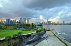 Marina Bay Panorama Stock Photos