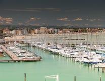 Marina Bay in Rimini, Italien Lizenzfreies Stockbild