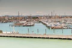 Marina Bay in Rimini, Italien Stockbild