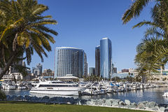 Marina Bay in San Diego stockbilder