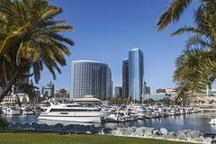 Marina Bay at San Diego. City View with Marina Bay at San Diego, California stock images