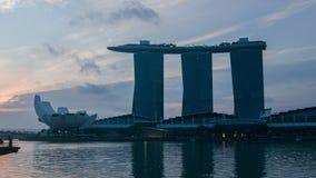 Marina Bay San en la ciudad de Singapur, lapso de tiempo almacen de video