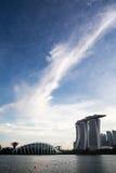 Marina Bay Sand en wolken Royalty-vrije Stock Afbeelding