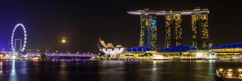 Marina Bay Sand Hotel Landmark av Singapore royaltyfri foto