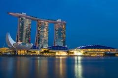 Marina Bay Sand Hotel Landmark de Singapur Imágenes de archivo libres de regalías
