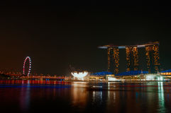 Marina Bay Sand night view in Singapore Royalty Free Stock Image