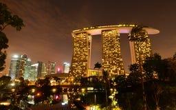 Marina Bay Sand Night View Stock Photos