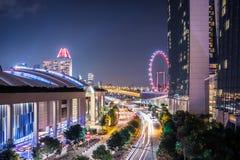 Marina bay sand singapore. Cityscape marina bay sand singapore night Royalty Free Stock Images