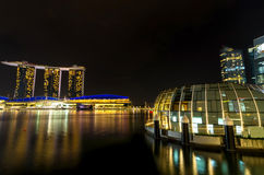 Marina Bay sand which is one of Singapore cityscape Modern building Royalty Free Stock Images