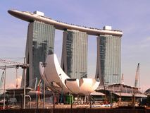 Marina Bay Sands. In Singapore stock image