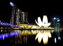 Marina Bay Sands. Complex in Singapore Stock Images