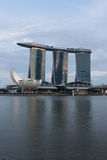 Marina Bay Sands. Art science museum, Singapore royalty free illustration