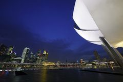 Marina Bay Sands ArtScience Museum Stock Photos
