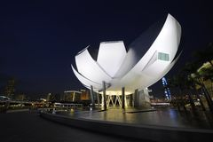 Marina Bay Sands ArtScience Museum Stock Photo