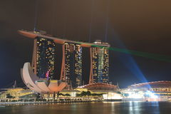 Marina Bay Sands and ArtScience Museum Royalty Free Stock Photography
