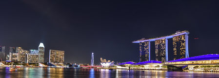 Marina Bay Sands and the ArtScience Museum in Singapore Royalty Free Stock Image