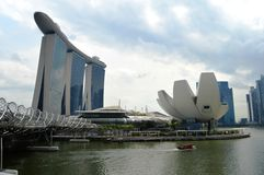 Marina Bay Sands and ArtScience Museum, Singapore Stock Photos
