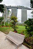 Marina Bay Sands as seen from Gardens by the Bay, SINGAPORE Royalty Free Stock Image